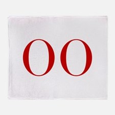 OO-bod red2 Throw Blanket