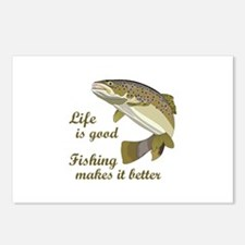 FISHING IS BETTER Postcards (Package of 8)