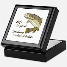 FISHING IS BETTER Keepsake Box