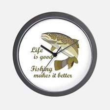FISHING IS BETTER Wall Clock
