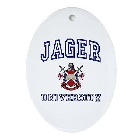 JAGER University Oval Ornament