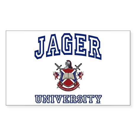 JAGER University Rectangle Sticker