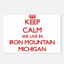 Keep calm we live in Iron Postcards (Package of 8)