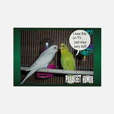 """Parakeet Humor #5"" Rectangle Magnet"