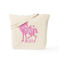 Crazy Pony Lady Tote Bag