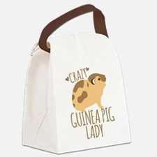 Crazy Guinea Pig Lady Canvas Lunch Bag