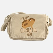Crazy Guinea Pig Lady Messenger Bag