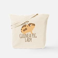 Crazy Guinea Pig Lady Tote Bag