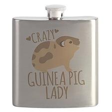 Crazy Guinea Pig Lady Flask