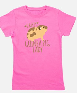 Crazy Guinea Pig Lady Girl's Tee