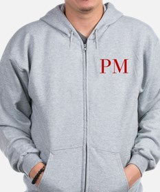 PM-bod red2 Zip Hoodie