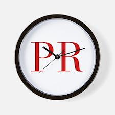PR-bod red2 Wall Clock