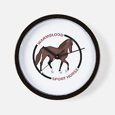 WARMBLOOD SPORT HORSE Wall Clock