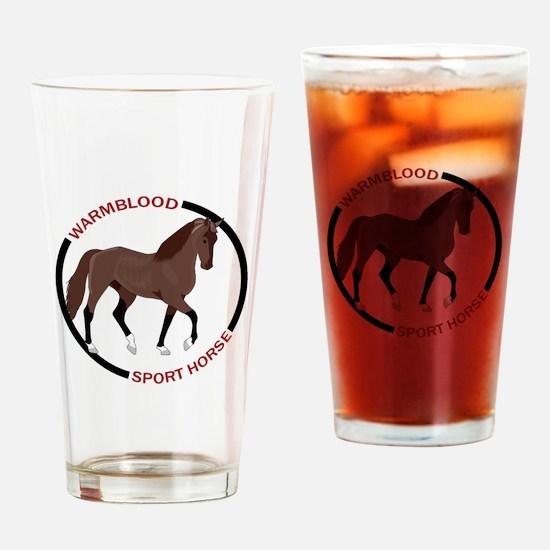 WARMBLOOD SPORT HORSE Drinking Glass