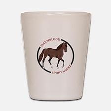 WARMBLOOD SPORT HORSE Shot Glass