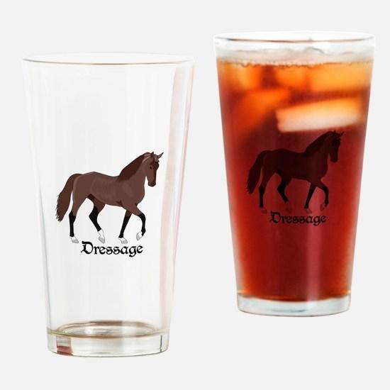 DRESSAGE HORSE Drinking Glass