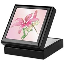 Lily Dragonfly Keepsake Box