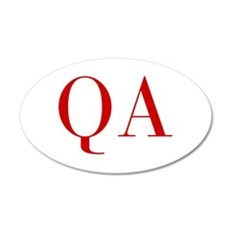 QA-bod red2 Wall Decal