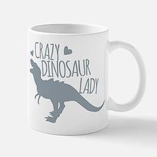 Crazy Dinosaur Lady Mugs