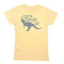 Crazy Dinosaur Lady Girl's Tee