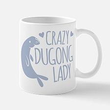Crazy Dugong Lady Mugs