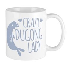 Crazy Dugong Lady Mugs