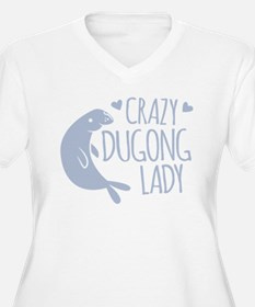 Crazy Dugong Lady Plus Size T-Shirt