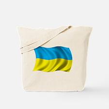 Wavy Ukraine Flag Tote Bag