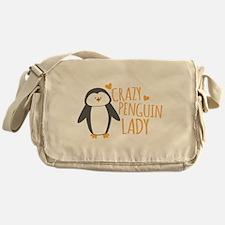 Crazy Penguin Lady Messenger Bag