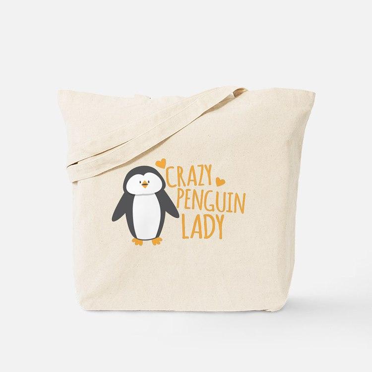 Crazy Penguin Lady Tote Bag