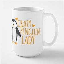 Crazy Penguin Lady Mugs