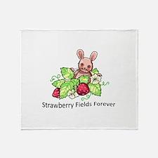 BUNNY STRAWBERRY Throw Blanket