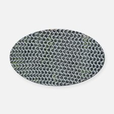 chain mail Oval Car Magnet