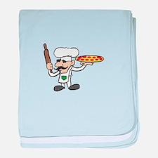 LITTLE PIZZA GUY baby blanket