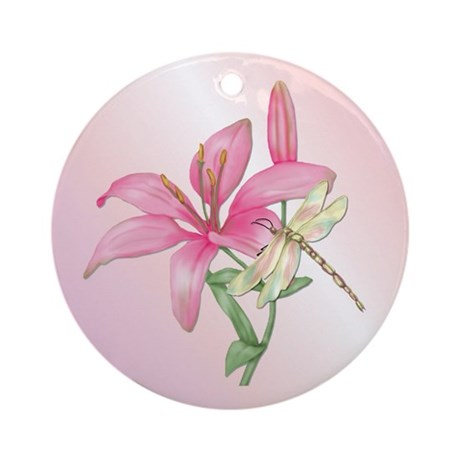 Lily Serenade Round Ornament