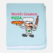 WORLDS GREATEST PIZZA baby blanket