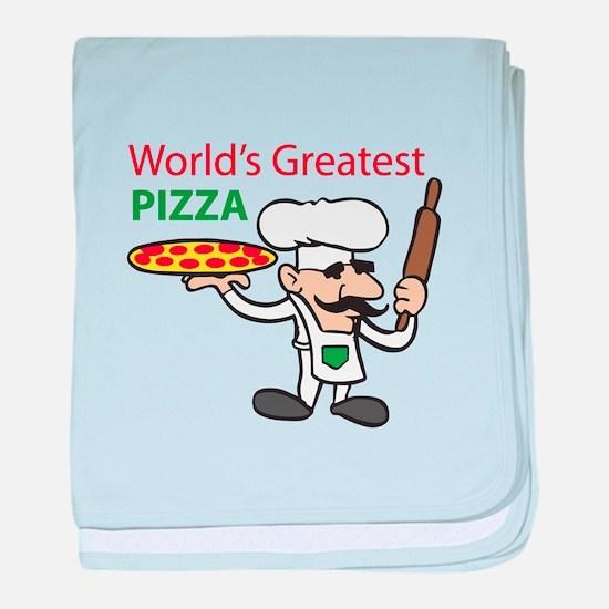 WORLDS GREATEST PIZZA baby blanket