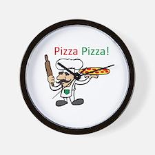 PIZZA PIZZA Wall Clock