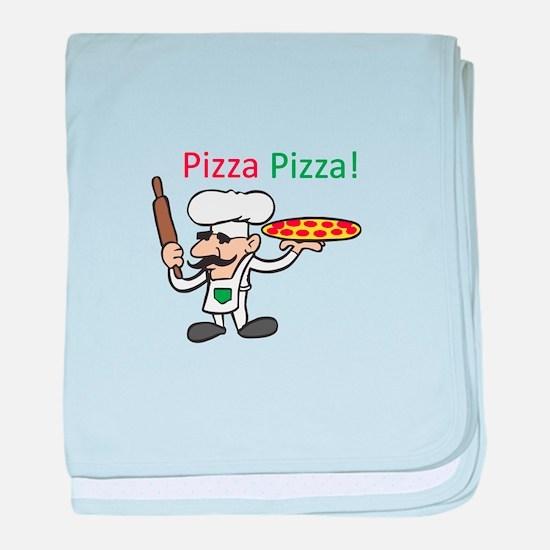 PIZZA PIZZA baby blanket