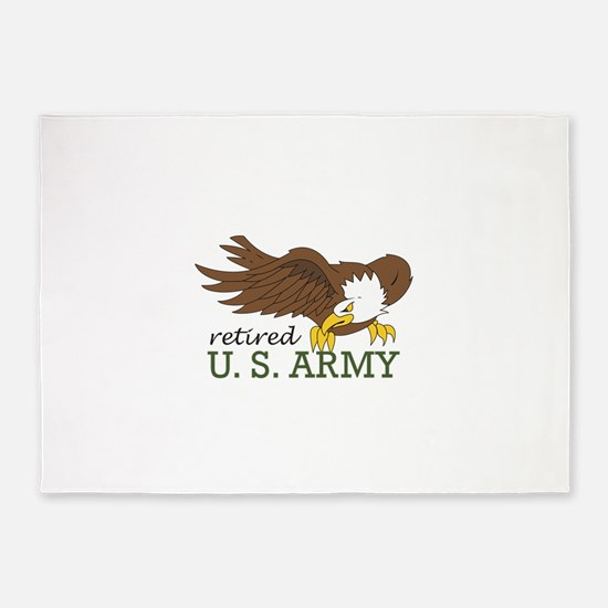 RETIRED US ARMY 5'x7'Area Rug