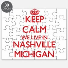 Keep calm we live in Nashville Michigan Puzzle