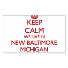 Keep calm we live in New Baltimore Michiga Decal