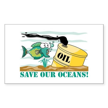 Save Our Oceans! Rectangle Sticker