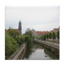 Amberg in Bavaria Tile Coaster