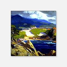 "Cypress Point, landscape pa Square Sticker 3"" x 3"""