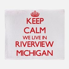 Keep calm we live in Riverview Michi Throw Blanket