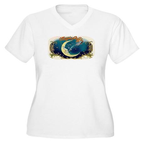Magic Puffs Art Women's Plus Size V-Neck T-Shirt