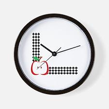 APPLE CORNER BORDER Wall Clock