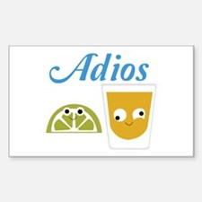 Tequila Adios Decal