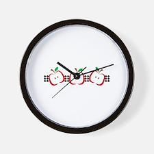 APPLE BORDER Wall Clock